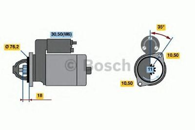 New Engine Starter Motor Oe Quality Replacement Bosch 0001107046