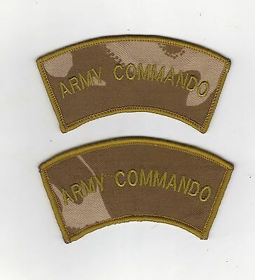 ARMY COMMANDO DESERT SHOULDER TITLES  1 PAIR  MTP KIT