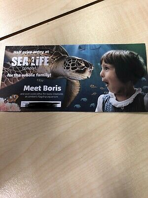 Half Price 50% Off Entry Code Sealife London For Family Discount Attractions