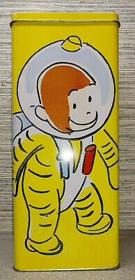 Vintage Curious George Astronaut Empty Tin 1998 Series #1
