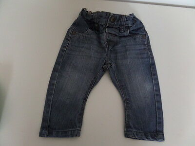 Next boys blue jeans elasticated waist 6-9 months