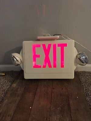 Lithonia Lighting Red Exit Sign & Emergency light Combo