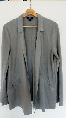 Topshop Grey Maternity Lightweight Jacket Cardigan Size 12 Blazer Summer Evening
