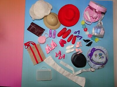 Vintage Sindy Doll Clothes Bundle Bags Hats Accessories Shoes Barbie