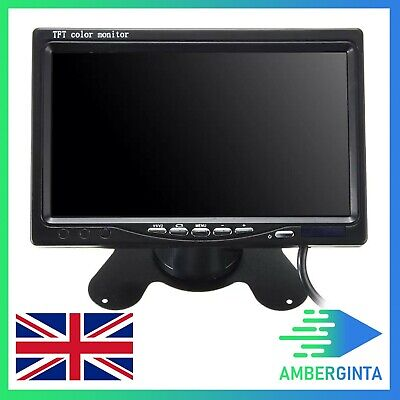 Car Rear View Headrest Monitor 7 Inch TFT LCD Color Video Input DVD VCR Monitor