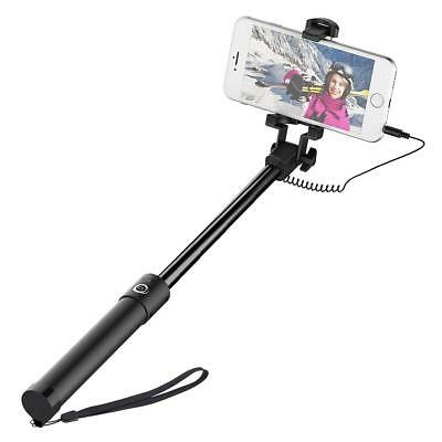 Bigbull extendable mirror Wired Selfie Stick iPhone 6s 6 6 plus 5 5s