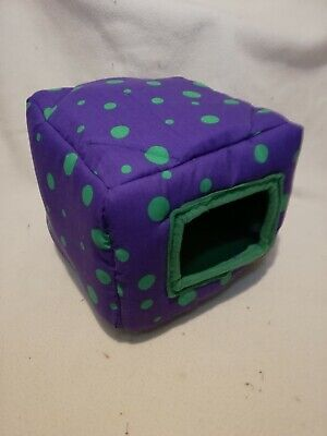 Purple with green spots sqube