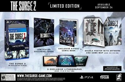 The Surge 2 Limited Edition PlayStation 4, PS4 + Lithographs + Comic Brand New