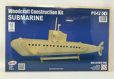 Submarine Woodcraft Construction Kit Craft Hobby