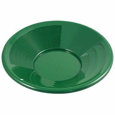 Green 14 Inch Gold Mining Pan for Gold Prospecting 2 Riffle Types