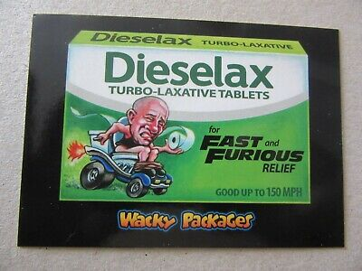 The Fast And Furious Sticker, Wacky Packages Go To The Movies, Topps, Vin Diesel