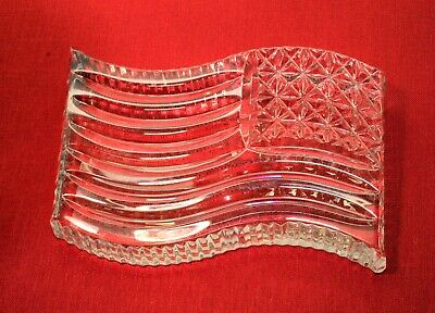 """Waterford Crystal American Flag Paperweight 4.5"""" X 3"""""""