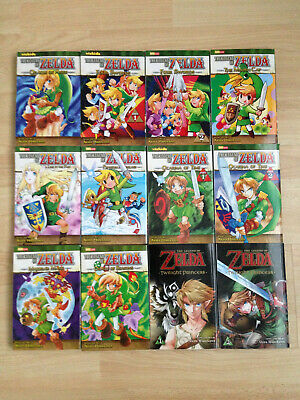 12 x The Legend of Zelda Complete Manga Book Set + Twilight Princess - ENGLISH