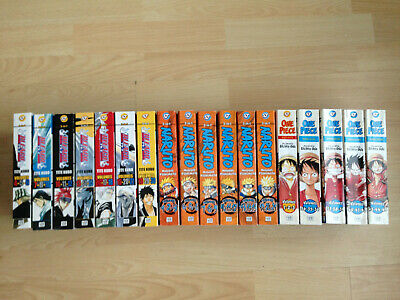 21 x DRAGON BALL BLEACH ONE PIECE NARUTO Omnibus 3 in 1 Manga Book Collection