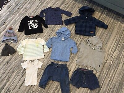 Baby boys Size 00 Bundle Bonds Toshi Sprout Target Jacket Beanie Shirts Pants