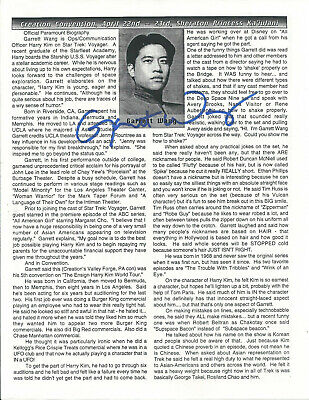 Garrett Wang Star Trek Voyager In-Person Hand Signed Autographed Photo