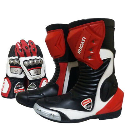 Ducati Corse Motorbike Leather Shoe Cowhide Leather Motorcycle Racing Gloves GP