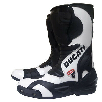 Suzuki GSXR Racing Stunt Scooter Cowhide Leather Shoe Motorbike Suzuki Shoe GP