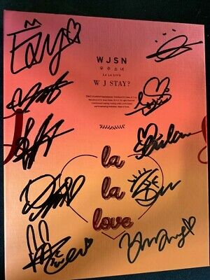 WJSN - COSMIC GIRL 6TH OFFICIAL ALBUM Autograph(Signed) ALL MEMBER KPOP