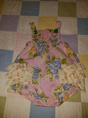 ae700ad57 Matilda Jane Pink Floral Yellow Ruffled One Piece Toddler Bubble Romper  Size 2