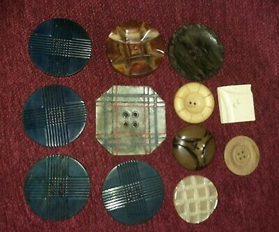 Art Deco  Bakelite Buttons.early Vintage Plastic Buttons.old Buttons