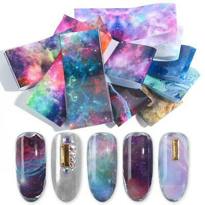 Holographic Nail Foil Starry Flower Transfer Paper Nail Sticker Decals~
