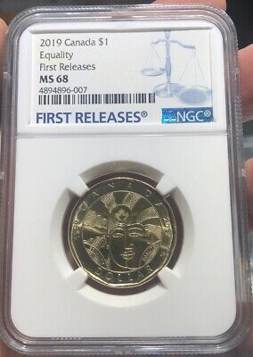 2019 Canada $1 Equality Ngc Ms 68 Dollar Loon Loonie First Releases