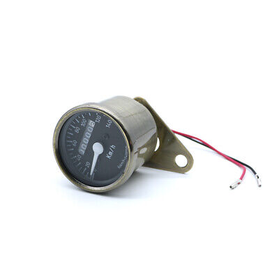 LED Bronze Mechanical Odometer Tachometer Speedometer For Universal Motorcycle