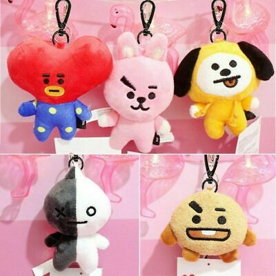 Kpop BTS Plush Doll Keychain Stuffed Cotton Toy Keyring Mang Cooky UK