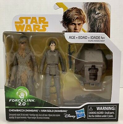 Star Wars Han Solo & Chewbacca Mimban Force Link 2.0 Action Figure 2-Pack NIB