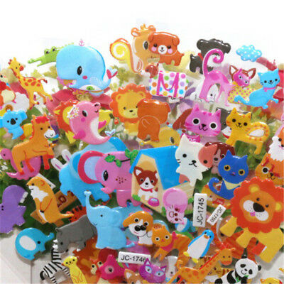 5sheets 3D Bubble Sticker Toys Children Kids Animal Classic Stickers Gift WH