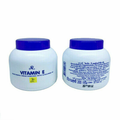 2X AR Vitamin E Aron Moisturising Cream With Sunflower Oil Smooth Soft Skin 200g
