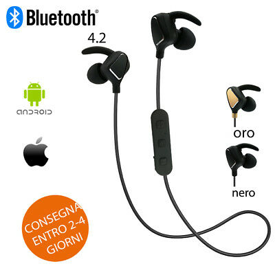 Auricolari Bluetooth Cuffie Wireless Universale Sport