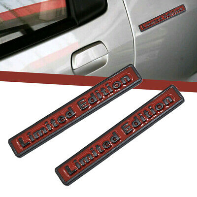 1pc Universal Auto 3D Metal Limited Edition Car Emblem Side Badge Sticker Decal