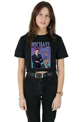 Michael Scott Homage Crop Top Funny UK Tribute Gift TV Icon Legend The Office