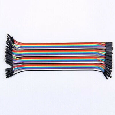40pcs 20cm Jumper Wire Cable For Arduino Breadboard Prototyping Male to Female