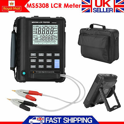 MS5308 100Khz Dual LCD Display Meter Inductance Resistance Capacitance Meter UK