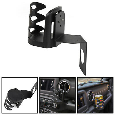 New ABS Front Water Cup Holder Trim For Jeep Wrangler JL 2018-19 Black AU