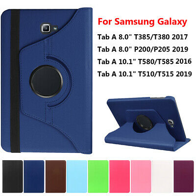 """Leather Smart Case Cover For Samsung Galaxy Tab A 8.0"""" 10.1""""Tablet T580 T585 ~"""