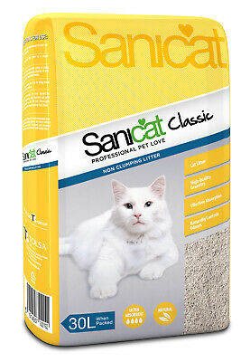 Sanicat Classic Cat Litter 30ltr Cat Litter Damaged 22.4 KG