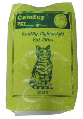 Comfey Cat Litter Light Weight 30ltr Cat Litter Damaged 19.2KG