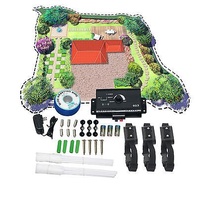 Water Resistant  Shock Electric 3 Dogs Pet Fence Fencing System