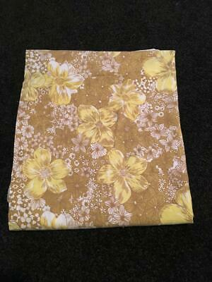 Vintage/ Retro /Brown Autumn Floral  Fabric Material Single  Sheet - No Fading