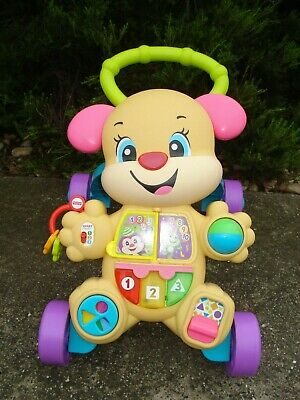 FISHER PRICE Learn w/ Sis Musical Learnig Baby Walker 75+ Songs Phrases Lights