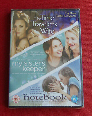 The Time Traveler's Wife / My Sister's Keeper / The Notebook - NEW Region 2 DVD