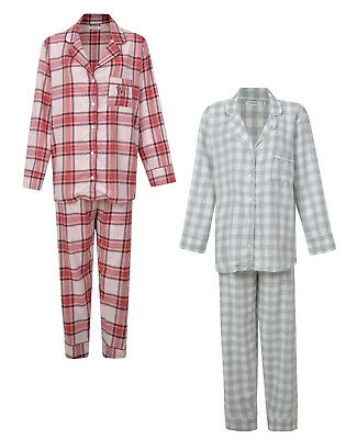 "Ladies Pyjamas Button Up Checked ""Womens Secret"" Night Wear Pj Set Uk 12-22 New"