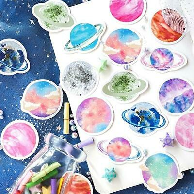 45Pcs Stationery Sticker DIY Planet Sticky Paper Moon Plants Stickers For Diary-