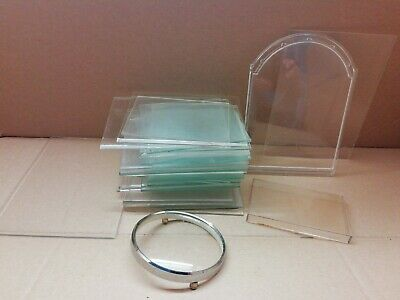 carriage clock glass replacement glass/plastic clock faces various size any use