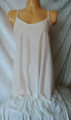 Indigo Sky Cream Ivory Sheer Silky Slinky Chemise Night Dress Wear Nightie Bnwt