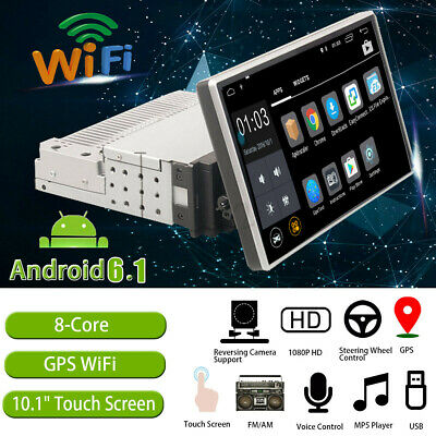 "10.1"" AUTORADIO mit Android Touch Bildschirm BT 1 Din USB SD Navigation Navi GPS"